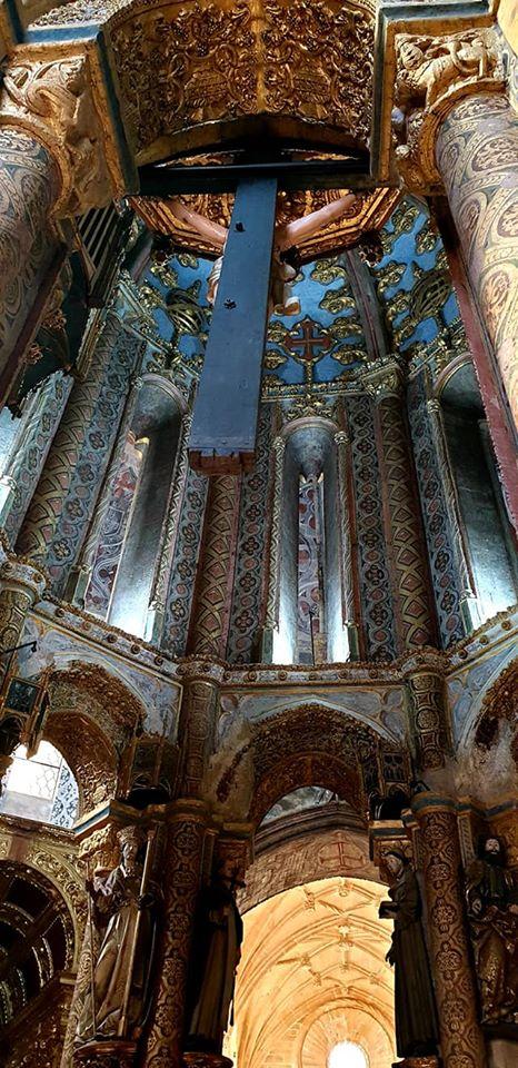 Convento de Cristo. Charola com nova iluminação