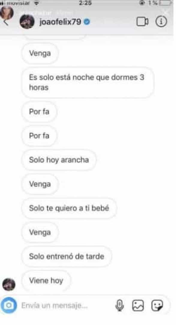Polémica. Espanhola divulga mensagens íntimas que trocou com João Félix